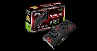 Анонс видеокарты ASUS Expedition GeForce GTX 1070 OC для VR и 4K-развлечений