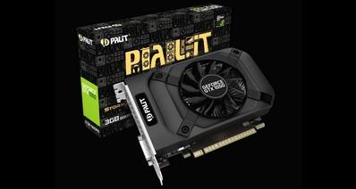 Palit представила компактную видеокарту Palit GeForce GTX 1050 StormX 3GB