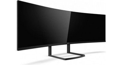 Компания Philips представила новую версию 49-дюймового монитора Philips Brilliance 492P8 с разрешением 5120 х 1440