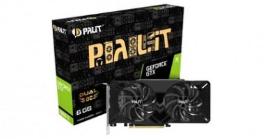 Две новые видеокарты серии Palit GeForce GTX 1660 Ti Dual с двухвентиляторным кулером