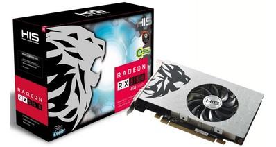 HIS представили две однослотовые видеокарты HIS Radeon RX 550 GREEN Slim-iCooler OC