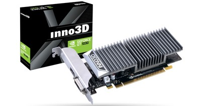 Inno3D анонсировала новую серию бюджетных видеокарт Inno3D GeForce GT 1030