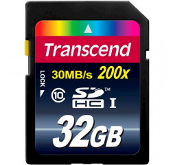 Карта памяти SD 32Gb Transcend (TS32GSDHC10)