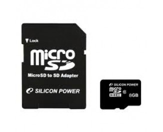 Карта памяти microSD 8Gb SiliconPower Class 10 (SP008GBSTH010V10-SP)