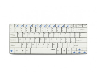 Клавиатура Rapoo беспроводная Ultra-slim Bluetooth Keyboard E6100 White