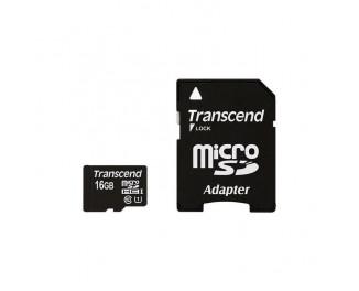 Карта памяти microSD 16Gb Transcend (TS16GUSDU1)