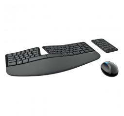 Клавиатура и мышь беспроводная Microsoft Sculpt Ergonomic Desktop (L5V-00017) Black