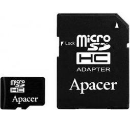 Карта памяти microSD 32Gb Apacer UHS-I Class 10 + адаптер (AP32GMCSH10U1-R)
