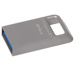 Флешка USB 3.1 64Gb Kingston DataTraveler Micro 3.1 Silver (DTMC3/64GB)