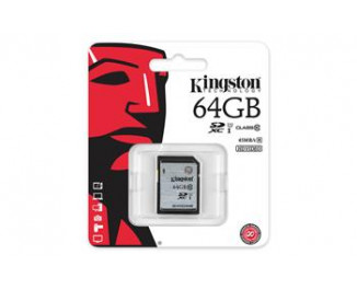 Карта памяти SD 64GB Kingston (SD10VG2/64GB)