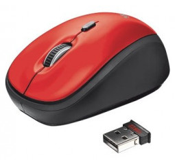 Мышь беспроводная Trust Yvi Wireless Mini Mouse red (19522)