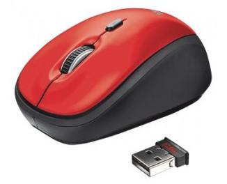 Мышь беспроводная Trust Yvi Wireless Mouse - red (19522)