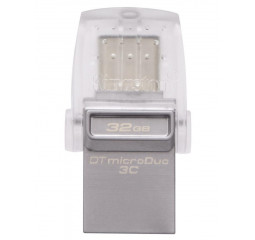 Флешка USB Type-C 32Gb Kingston DataTraveler microDuo 3C Silver (DTDUO3C/32GB)