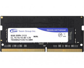 Память для ноутбука SO-DIMM DDR4 8 Gb (2133 MHz) Team Elite (TED48G2133C15-S01)