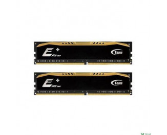 Оперативная память DDR4 8 Gb (2400 MHz) (Kit 4 Gb x 2) Team Elite Plus Black (TPD48G2400HC16DC01)