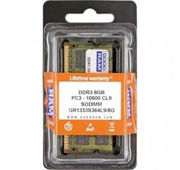 Память для ноутбука SO-DIMM DDR3 8 Gb (1333 MHz) GOODRAM (GR1333S364L9/8G)