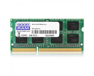 Память для ноутбука SO-DIMM DDR3 8 Gb (1600 MHz) GOODRAM (GR1600S3V64L11/8G)