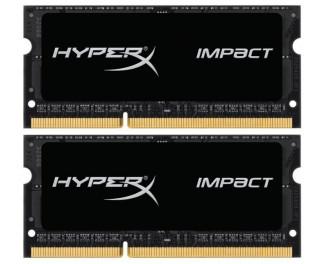 Память для ноутбука SO-DIMM DDR3 16 Gb (1866 MHz) Kingston HyperX Impact (Kit 8 Gb x 2) (HX318LS11IBK2/16)
