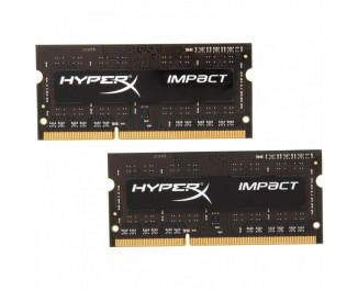 Память для ноутбука SO-DIMM DDR3 8 Gb (1600 MHz) (Kit 4 Gb x 2) Kingston HyperX Impact Low Voltage (HX316LS9IBK2/8)