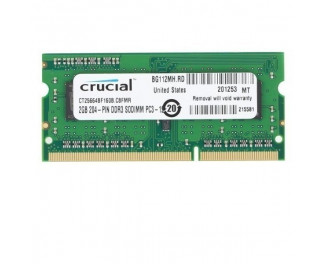 Память для ноутбука SO-DIMM DDR3 2 Gb (1600 MHz) Micron Crucial (CT25664BF160BJ)