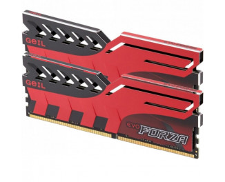 Оперативная память DDR4 8 Gb (2400 MHz) (Kit 4 Gb x 2) Geil FORZA Red (GFR48GB2400C16DC)