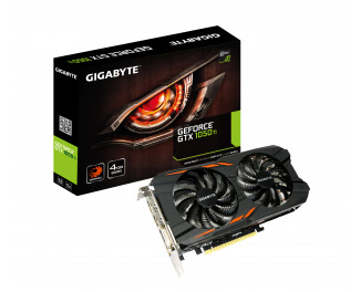 Видеокарта Gigabyte GeForce GTX 1050 Ti Windforce 4G (GV-N105TWF2-4GD)
