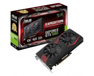 Видеокарта ASUS GeForce GTX 1060 Expedition OC edition 6GB (EX-GTX1060-O6G)