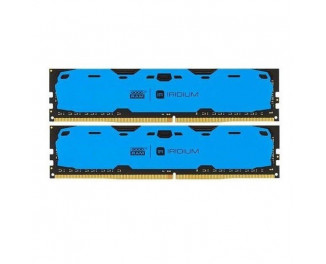 Оперативная память DDR4 8 Gb (2400 MHz) (Kit 4 Gb x 2) GOODRAM Iridium Blue (IR-B2400D464L15S/8GDC)