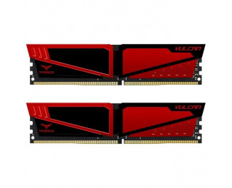 Оперативная память DDR4 32 Gb (2666 MHz) (Kit 16 Gb x 2) Team T-Force Vulcan Red (TLRED432G2666HC15BDC01)