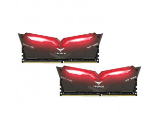 Оперативная память DDR4 32 Gb (3200 MHz) (Kit 16 Gb x 2) Team T-Force Night Hawk Red LED (THRD432G3200HC16CDC01)