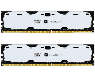 Оперативная память DDR4 16 Gb (2400 MHz) (Kit 8 Gb x 2) GOODRAM Iridium White (IR-W2400D464L15S/16GDC)
