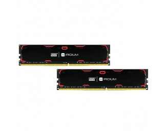 Оперативная память DDR4 8 Gb (2400 MHz) (Kit 4 Gb x 2) GOODRAM Iridium Black (IR-2400D464L17S/8GDC)