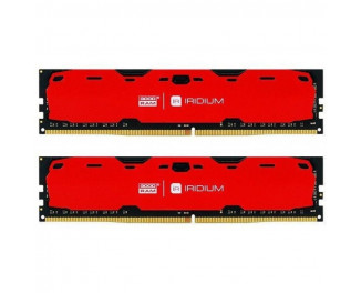 Оперативная память DDR4 8 Gb (2400 MHz) (Kit 4 Gb x 2) GOODRAM Iridium Red (IR-R2400D464L15S/8GDC)