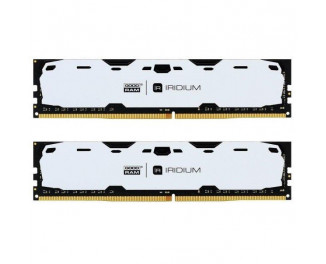 Оперативная память DDR4 8 Gb (2400 MHz) (Kit 4 Gb x 2) GOODRAM Iridium White (IR-W2400D464L15S/8GDC)