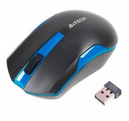 Мышь беспроводная A4Tech G3-200N Black+Blue