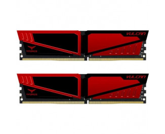 Оперативная память DDR4 8 Gb (3200 MHz) (Kit 4 Gb x 2) Team T-Force Vulcan Red (TLRED48G3200HC16CDC01)