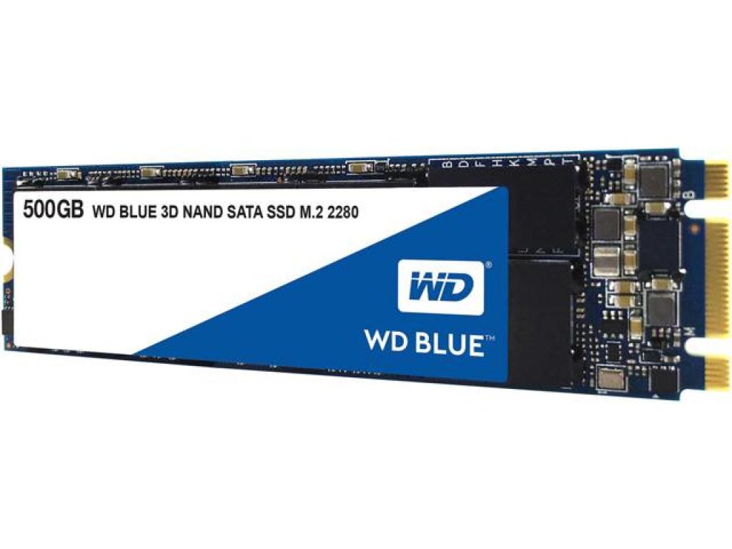 SSD накопитель 500Gb WD Blue 3D NAND M.2 2280 (WDS500G2B0B)