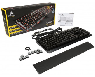 Клавиатура Corsair K70 LUX Mechanical Gaming Keyboard - Red LED - Cherry MX Red Switch (CH-9101020-NA)