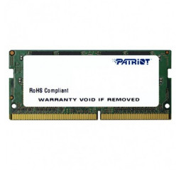 Память для ноутбука SO-DIMM DDR4 8 Gb (2400 MHz) Patriot (PSD48G240081S)