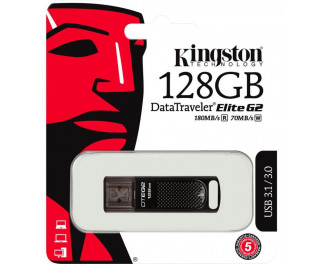Флешка USB 3.1 128Gb Kingston DataTraveler Elite G2 Black (DTEG2/128GB)