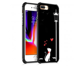 Чехол для Apple iPhone 7 / 8 Lephee 3D Relief Painting Love Cat