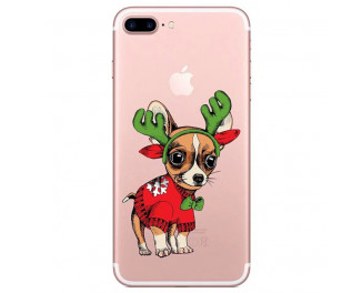 Чехол для Apple iPhone 7 Plus / 8 Plus Lephee TPU Silicone Merry Christmas F1