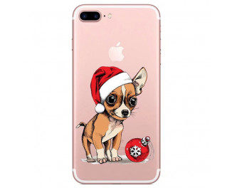 Чехол для Apple iPhone 7 / 8 Lephee TPU Silicone Merry Christmas F2