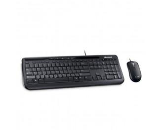 Клавиатура и мышь Microsoft Wired Desktop 600 USB Black Ru Ret