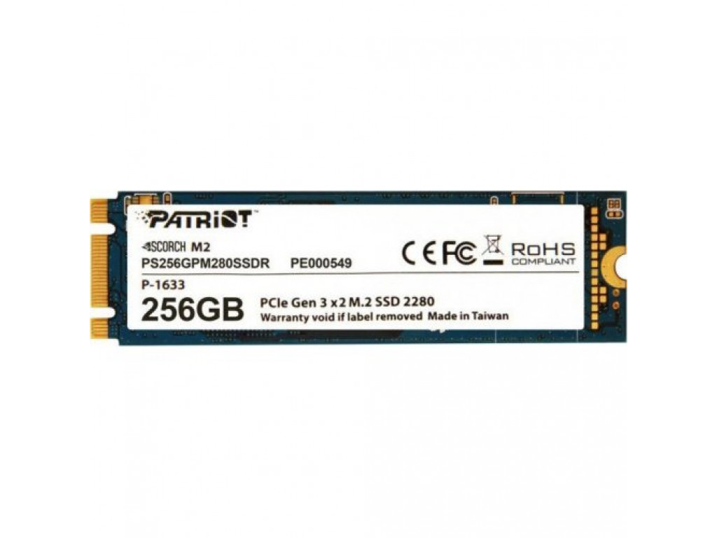 SSD накопитель 256Gb Patriot Scorch M.2 (PS256GPM280SSDR)