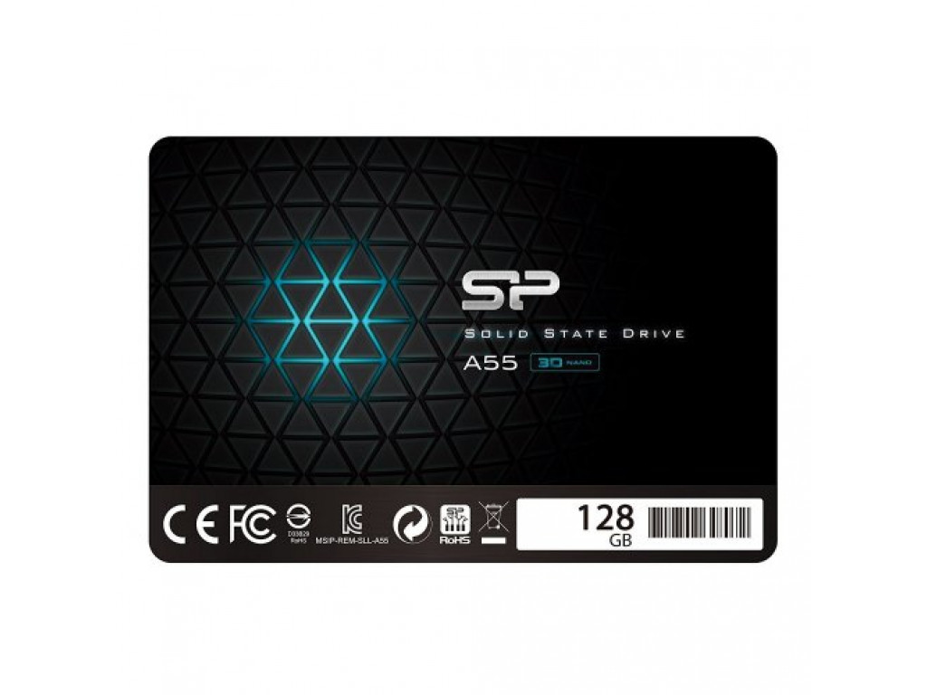 SSD накопитель 128Gb Silicon Power A55 (SP128GBSS3A55S25)