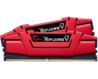 Оперативная память DDR4 16 Gb (2666 MHz) (Kit 8 Gb x 2) G.SKILL Ripjaws V RED (F4-2666C15D-16GVR)