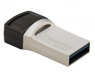 Флешка USB Type-C 64Gb Transcend JetFlash 890 Silver (TS64GJF890S)
