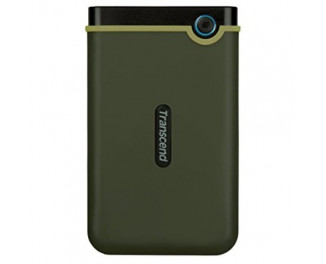 Внешний жесткий диск 1000Gb Transcend StoreJet 25M3 Military Green (Slim) (TS1TSJ25M3G)