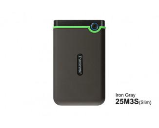 Внешний жесткий диск 1 TB Transcend StoreJet 25M3 Iron Gray (Slim) (TS1TSJ25M3S)